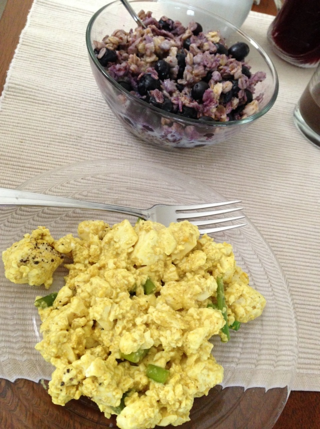 tofu scramble and oatmeal