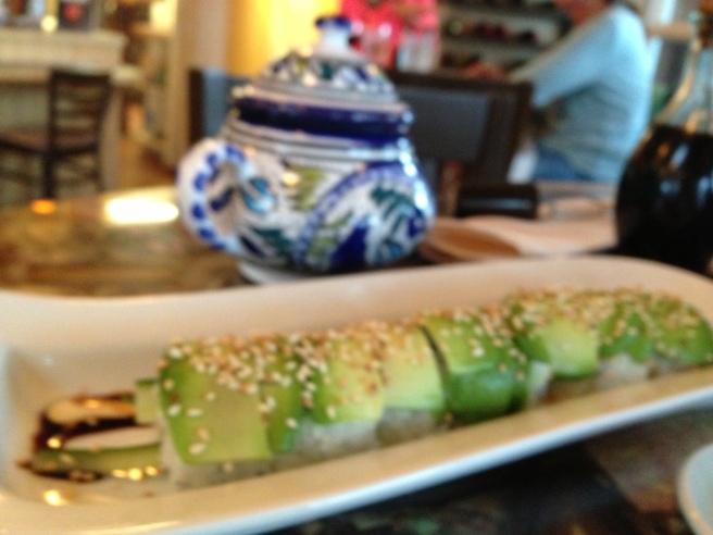 Cucumber/avocado roll.