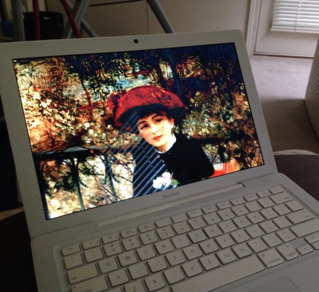 The floating Renoir on my screensaver.