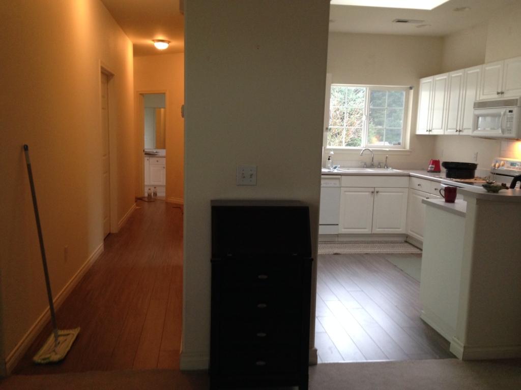 New hallway and kitchen floor.