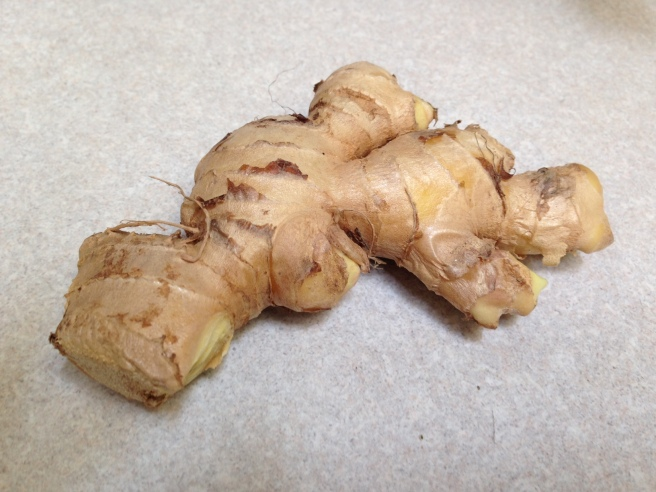 Raw, organic ginger.