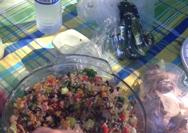 The famous quinoa salad.